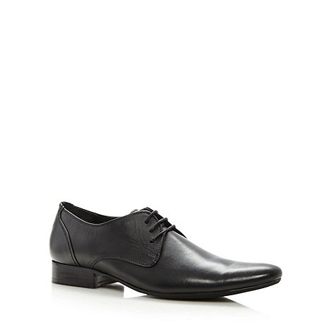 Red Herring - Black Sandstorm pointy lace up shoes