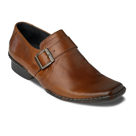 Red Herring - Tan Sprackling buckle slip on shoes