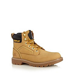 Caterpillar - Taupe leather lace up work boots
