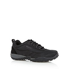 Caterpillar - Black stitch panel lace up trainers