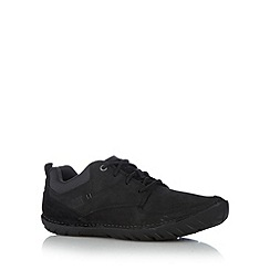Caterpillar - Black leather and suede lace up shoes