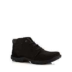 Caterpillar - Black leather and suede mid cut boots