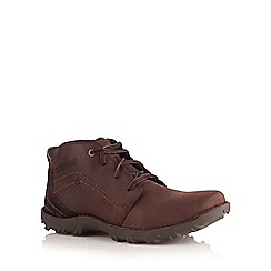 Caterpillar - Chocolate leather lace up ankle boots