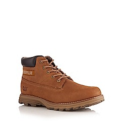 Caterpillar - Tan leather mid height boots