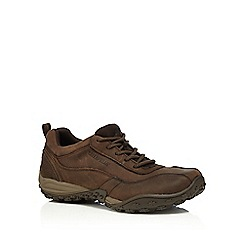 Caterpillar - Dark brown lace up trainers