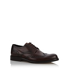 J by Jasper Conran - Designer wine leather lace up brogues