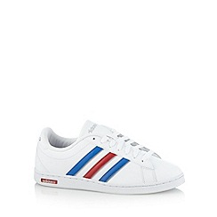 adidas - White 'Derby' lace up trainers