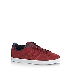 adidas - Dark red 'Coderby St' leather trainers