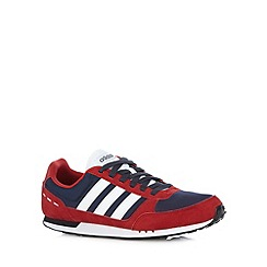 adidas - Dark red 'City Racer' trainers