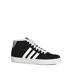 adidas - Black 'Daily' suede high top trainers