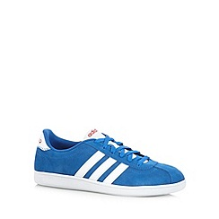 adidas - Blue suede 'VLNeo Court' trainers