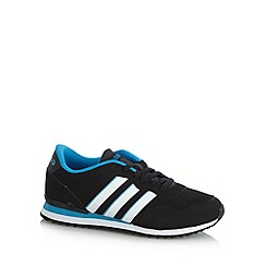 adidas - Black 'Jog Clip' jagged trainers