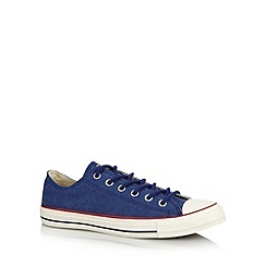 Converse - Blue washed trainers