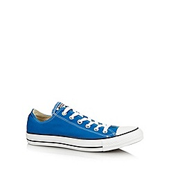 Converse - Bright blue logo trim trainers