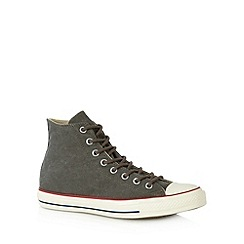 Converse - Dark grey canvas hi-top trainers