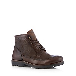 RJR.John Rocha - Designer brown brogue ankle boots