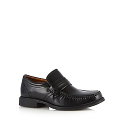 Clarks - Black 'Harp Work' leather loafers