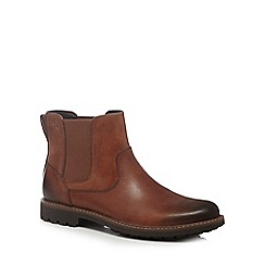 Clarks - Brown 'Montacute Top' chelsea boots