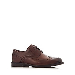 Clarks - Brown leather 'Dorset' brogues