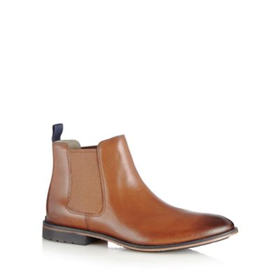 Clarks Tan leather ´Gatley Top´ chelsea boots - . -