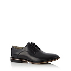 Clarks - Black leather 'Gatley Walk' shine lace up shoes