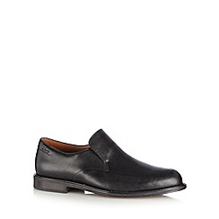 Clarks - Black leather 'Dorset Step' slip on shoes