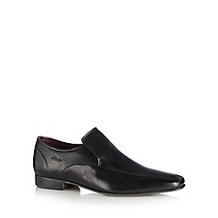 Clarks - Black leather 'Chilton Work' shoes