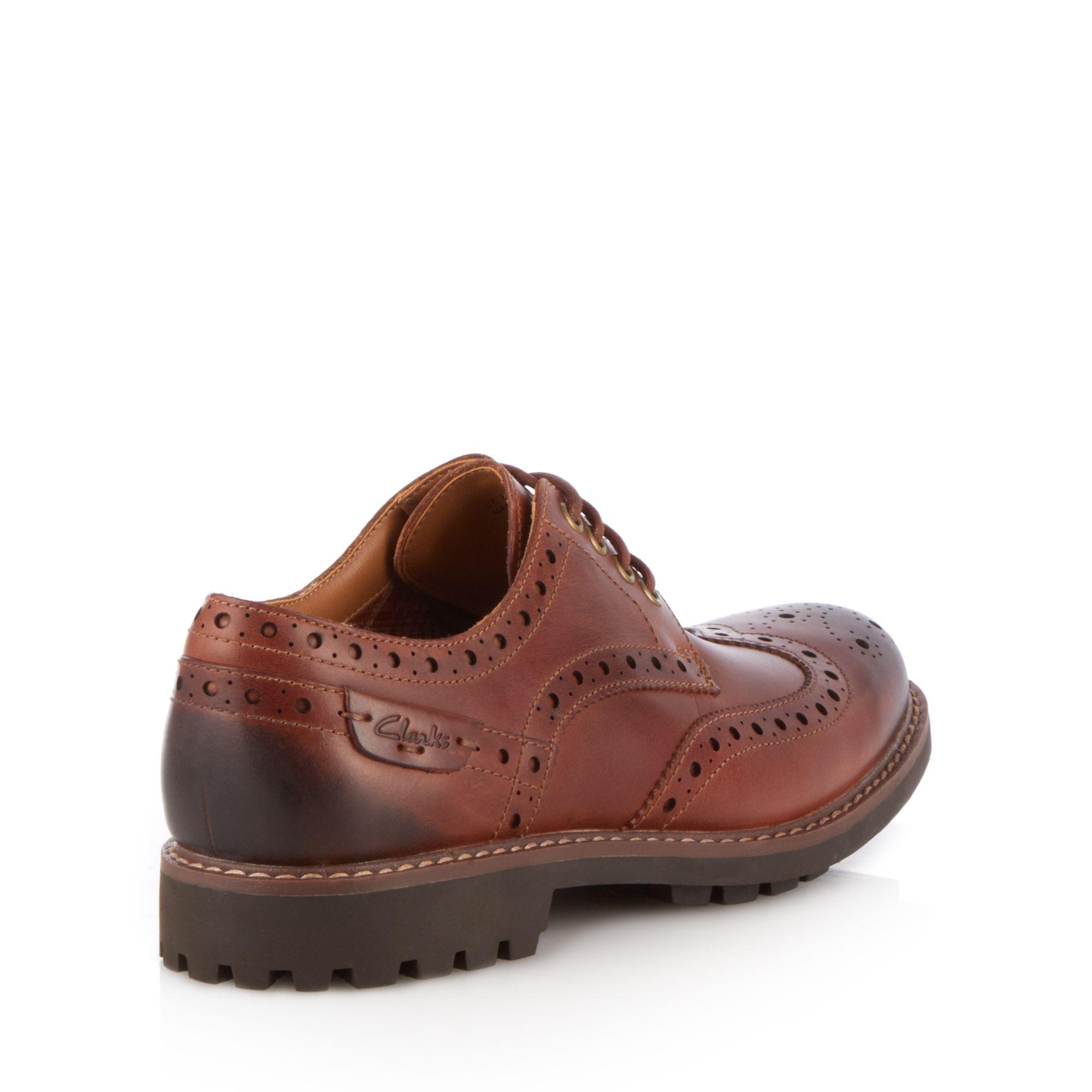 Debenhams Brown Brogue Shoes
