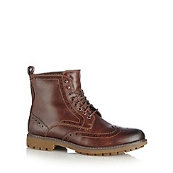 Clarks - Brown leather 'Montacute Lord' brogue boots