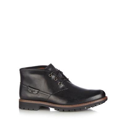 Clarks Black leather ´Montacute Duke´ boots - . -