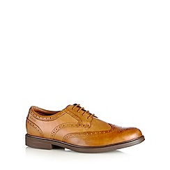 Clarks - Tan leather 'Gabson Limit' brogues