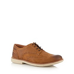 Clarks - Tan suede 'Raspin' brogues shoes