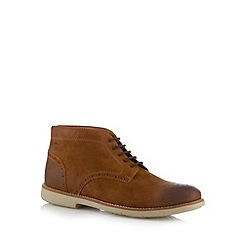 Clarks - Tan leather 'Raspin Limit' boots