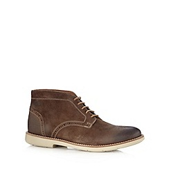 Clarks - Taupe suede 'Raspin Limit' boots