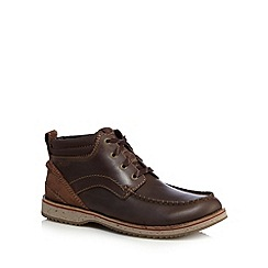 Clarks - Dark brown 'Mahale' lace up boots