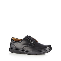 Clarks - Black leather 'Swift Mile' lace up shoes