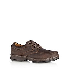 Clarks - Brown leather 'Star Stride' extra wide shoes