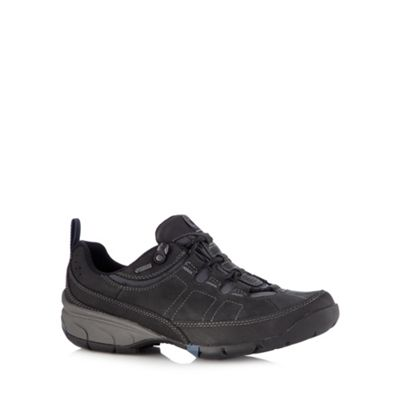 Clarks Black leather ´Wave Pass´ lace up shoes - . -