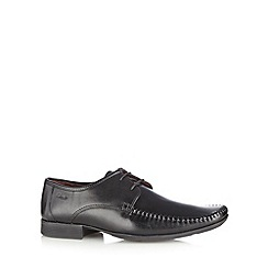 Clarks - Black leather 'Ferro Walk' lace up shoes