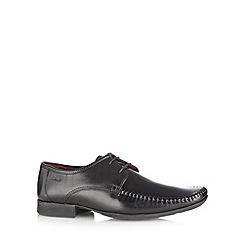 Clarks - Black leather 'Ferro Walk' lace up shoes