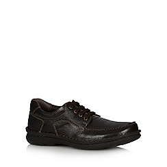 Hush Puppies - Brown leather lace up shoes