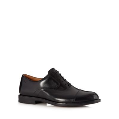 Clarks Black leather ´Dorset Boss´ wide fit shoes - . -