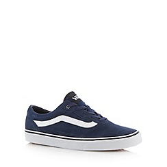 Vans - Navy suede lace up trainers