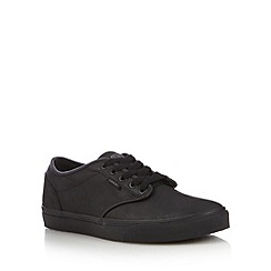 Vans - Black leather trainers