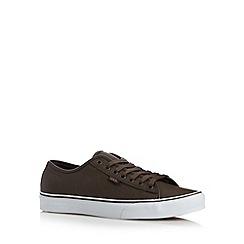 Vans - Brown faux leather lace up shoes