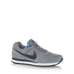 Nike - Grey 'Runner' textured leather trainers