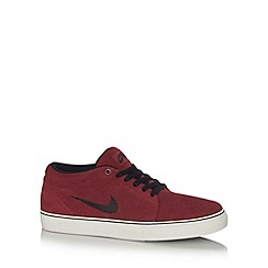 Nike - Red 'Satire' suede mid cuff trainers