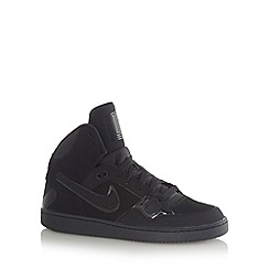 Nike - Black 'Son of Force' mid cuff leather trainers