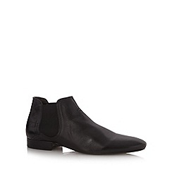 H By Hudson - Black leather chelsea boots