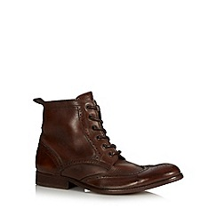 H By Hudson - Tan leather high top brogues